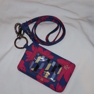Vera Bradley - Zip ID case with lanyard